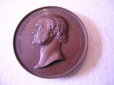 Large Bronze Medal 1848 Lord Bentinck By Wyon