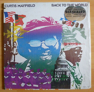 LP: CURTIS MAYFIELD - Back to the world - Curtom Records