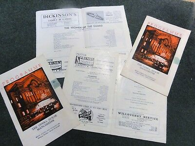 4 vintage programmes The Opera House Manchester 1960's
