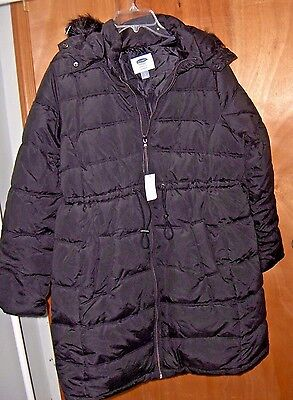Women Size Large Maternity  * Old Navy  *winter    Black/ Hooded Coat  Nwt