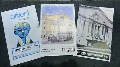 3 vintage theatre programmes The Opera House Manchester  1960's/ 70's