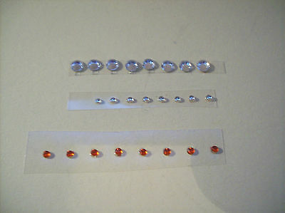 24  Replacement Jewelled Headlight For Corgi And Dinky Cars