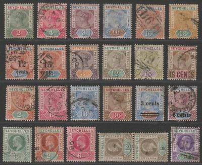 Seychelles 1892-1906 QV-KEVII Selection to 48c Used