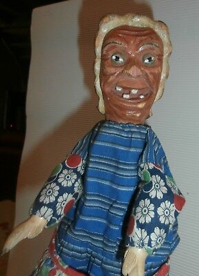 c1880 Folk Art Primitive exceptional wood Wooden hand carved  PUPPET charater n2