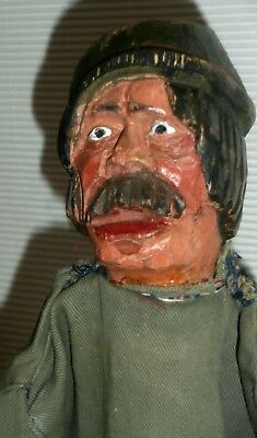 c1880 Folk Art Primitive exceptional wood Wooden hand carved  PUPPET charater n4