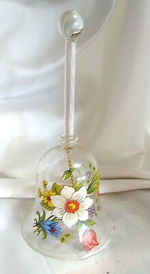 Hand Blown Gordon's Crystal Glass Decorated Bell