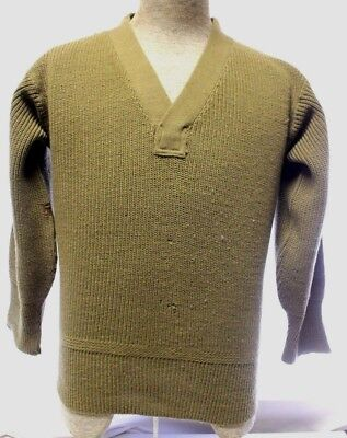 Vintage WWII US Army 4 Inch Cuffs Knit Sweater