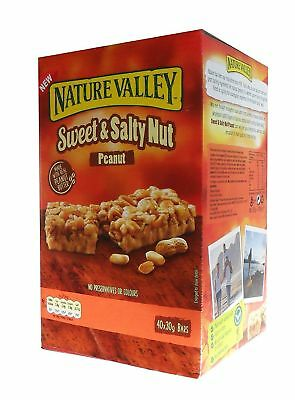 Nature Valley SWeet & Salty Nut Peanut 30g x 40 Bars No Preservatives or Colours