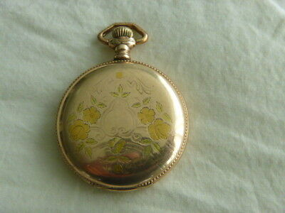 6s Waltham 15j pocket watch in 25 yr Gold-Filled multi-color hunter case repair