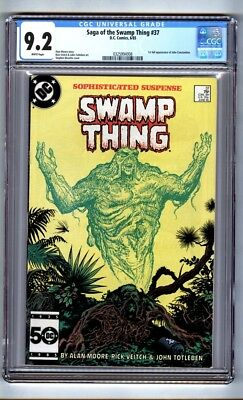 Saga of the Swamp Thing 37 (CGC 9.2) White p; 1st full John Constantine (c#16143