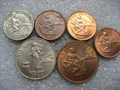Coin Philippines lot of 5 coins