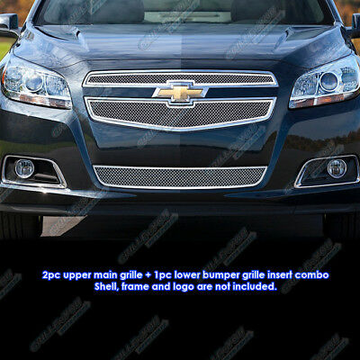 Fits 2013 Chevy Malibu Stainless Steel Mesh Grille Insert Combo