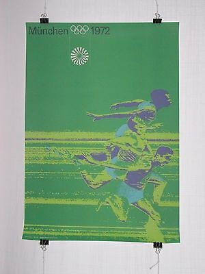 poster - athletics - olympic games 1972 Munich München - original - Otl Aicher