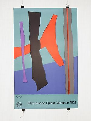 poster - Fritz Winter - olympic games 1972 Munich München - original - Bauhaus