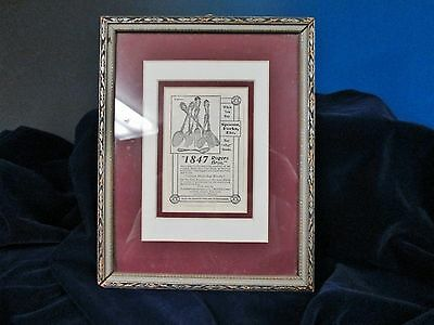Antque Print Ad BERKSHIRE Silverplated Flatware 1847 Rogers Matted & Framed