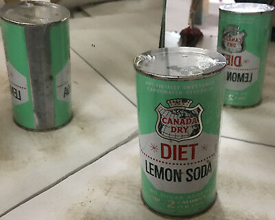 Canada Dry Diet Lemon Soda Flat Top Can