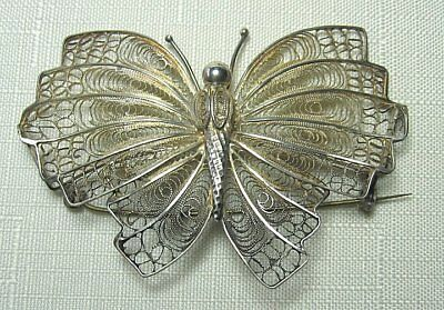 """Sterling Silver Butterfly Pin   13.6 grams   3"""""""