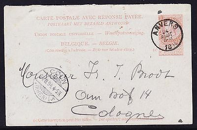 Belgium 1894 Letter card Anvers to Cologne