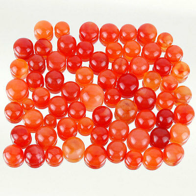 250 Cts/68 Pcs Untreated Finest Orange Natural Carnelian Lot Cabochon Gemstones