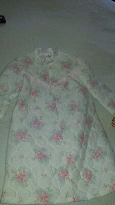 Vintage Nos Size 4T Child Girl's Quilted Housecoat Robe Never Worn With Tags