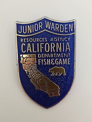 Vintage Toy California Game Warden Badge Junior Warden Fish and Game