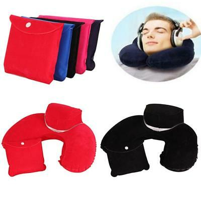 Hot Travel Washable Neck Air Cushion U-Shaped  Pillow Inflatable Air Blow Up