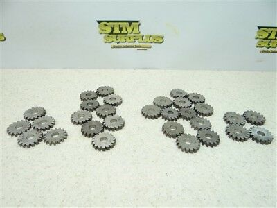 "30 Hss Micro Milling Cutters 1/8"", 3/16"", 1/4"" & 5/32-7/32"" Widths"