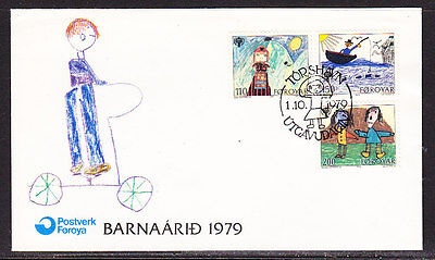 Faroe Islands 1979 - Year of the Child First Day Cover - Unaddressed