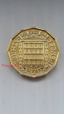 Gb Royal Mint 1970*unc*last Issued Elizabeth Ii Proof Threepence 3D Coin-Km#900