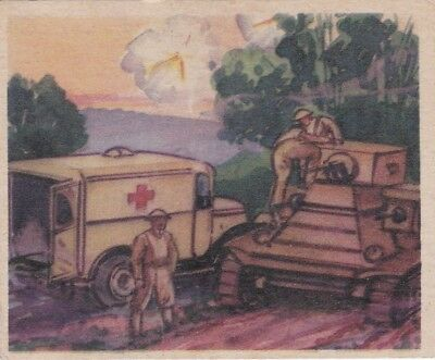 """""""AMBULANCE RUSHES AID """"-1938 goudey""""ACTION"""" gum  U.S. MILITARY battle/equip card"""