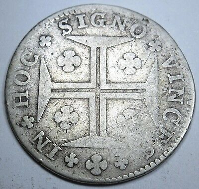 Portugal 1774 200 Reis Coin Key Date! Antique Portuguese Currency Rare Money