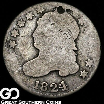 1824 Capped Bust Dime, Tough Type
