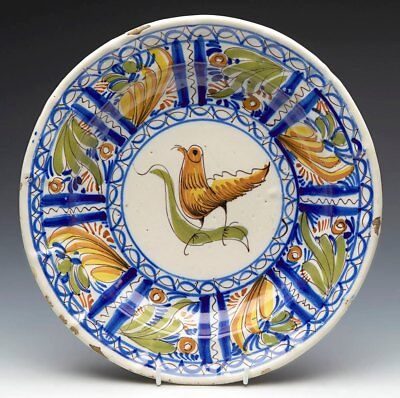 Antique Continental Faience Dish 18Th C