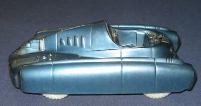 Vintage Marx Blue Hard Plastic Toy Rocket Car Futuristic No Driver / Pilot