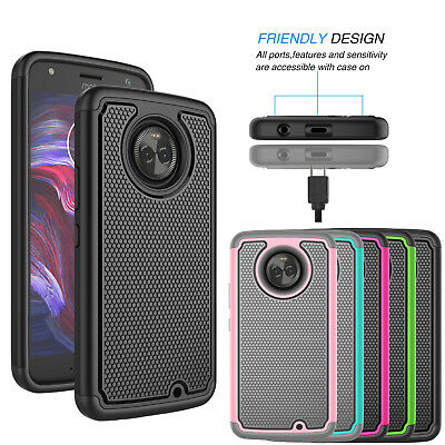 For Motorola Moto X4 (X 4th Gen) Phone Case Hybrid Shockproof Armor Slim Cover