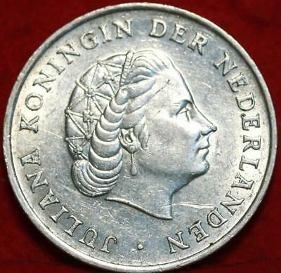 Uncirculated 1964 Netherlands 1 Gulden Silver Foreign Coin Free S/H