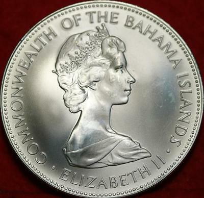 Uncirculated 1972 Bahamas $5 Silver Foreign Coin Free S/H