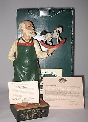 Leo Smith Toymaker Santa Midwest Numbered Piece COA Story Card Bx Excellent Cond