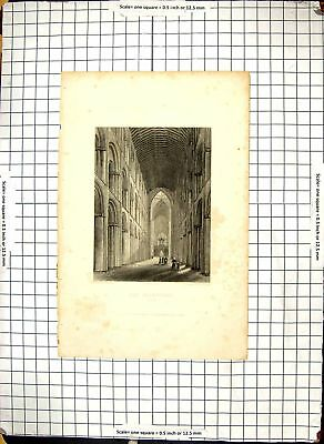 Ely Cathedral Interior Nave 1836 Architecture Garland Winkles Eng 111G308
