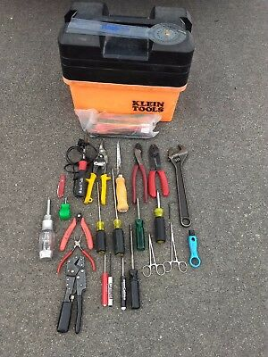 One Lot Of Professional Electrical Hand Tools With Klein Tool Box