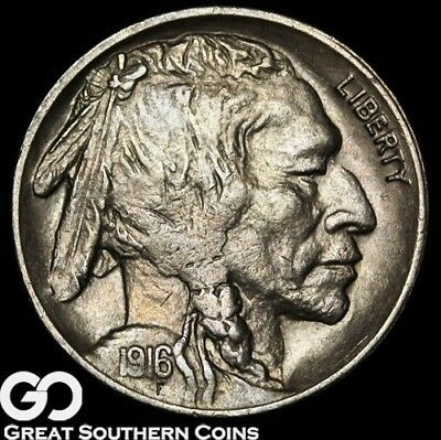 1916-S Buffalo Nickel, Choice Uncirculated++/BU Better Date!