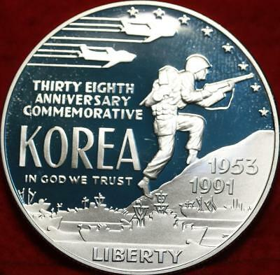 Uncirculated 1991 38th Anniversary of Korean War Silver US $1 Free S/H