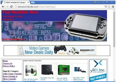 Video Gaming Website For Sale Free Bonuses, Free Set Up, Free Bonuses & More!