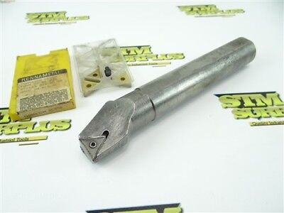 "Indexable Boring Bar 1-1/4"" Shank + 3 New Kennametal Carbide Inserts Tnmg432M"