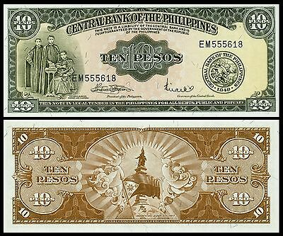 Philippines P-136f 10 Peso Year ND 1949 Uncirculated Banknote Asia