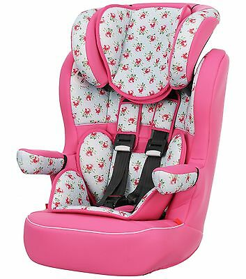 Obaby Group 1-2-3 High Back Booster Car Seat - Cottage Rose -From Argos on ebay