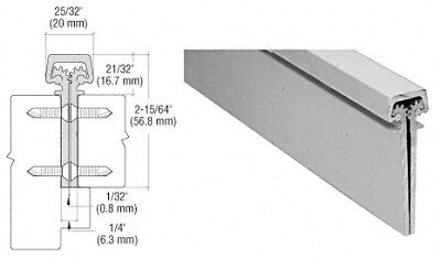 """Satin Anodized 350 Series Heavy-Duty Concealed Leaf Continuous Hinge - 83"""""""