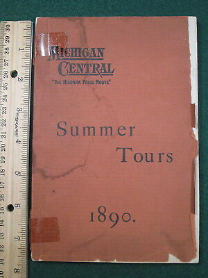 1890 MC Michigan Central Summer Tours Booklet - Timetables - Fares Much More