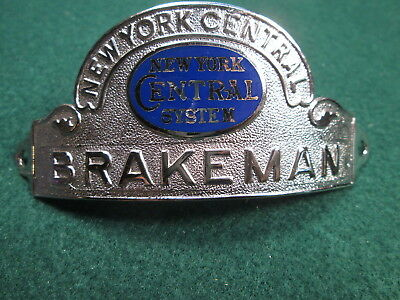 NYCS New York Central System Brakeman Hat Badge - Mint Condition