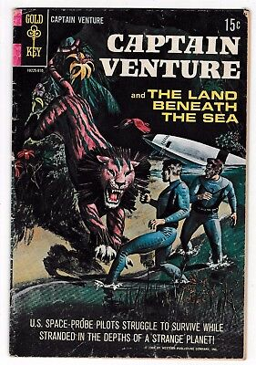 CAPTAIN VENTURE AND THE LAND BENEATH THE SEA #1 VG+ Painted Cover 1968 Gold Key